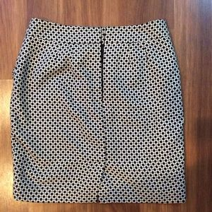 LOFT Skirts - Black polka dot skirt